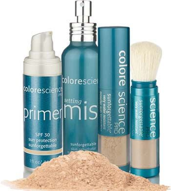 Sungorgettable ColoreScience Leiden zonnefactor huidbescherming minerale make up poeder